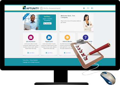 Aptunity is a skill testing software that connects employers with the right candidates for the job
